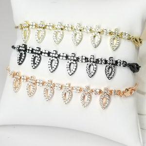SALE Bracelet / Anklet Pave CZ Diamond Slider NEW